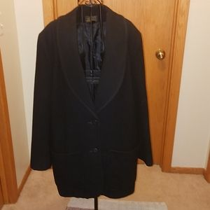VTG Eddie Bauer wool black blazer look jacket szXL